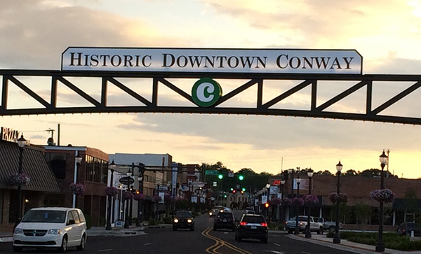 Historic Downtown Conway sign